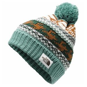 The North Face women's fair isle beanie with Pom